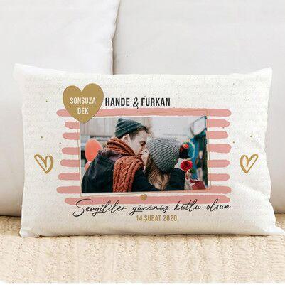 - Sevgililer Günü Hediyesi Fotoğraflı Yastık