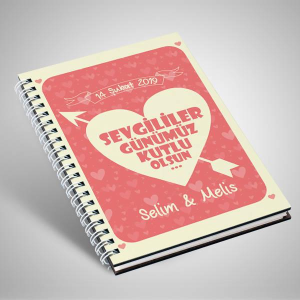 Sevgililer Günü Mesajlı İsme Özel Sevgili Defteri