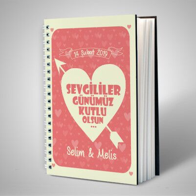 - Sevgililer Günü Mesajlı İsme Özel Sevgili Defteri