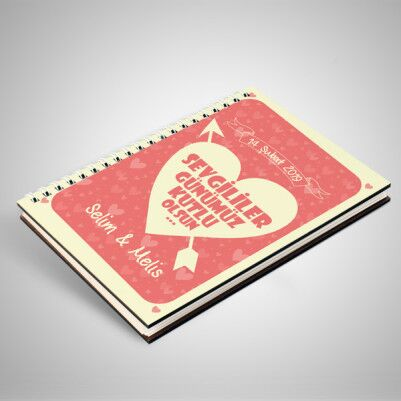 Sevgililer Günü Mesajlı İsme Özel Sevgili Defteri - Thumbnail