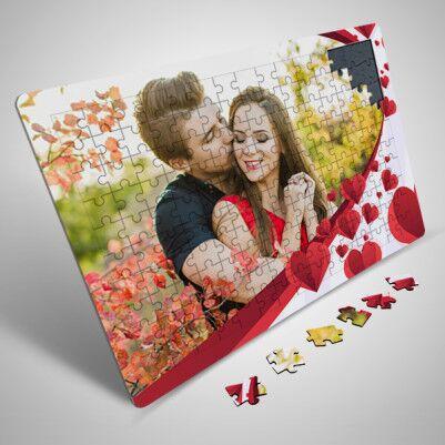 Sevgililer Günü Sürprizi Fotoğraflı Puzzle - Thumbnail