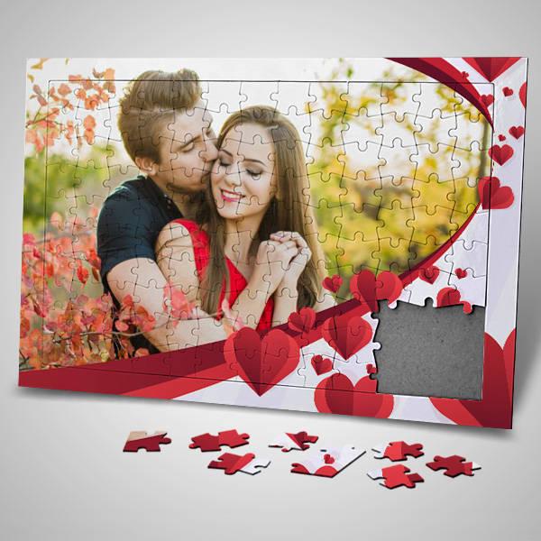 Sevgililer Günü Sürprizi Fotoğraflı Puzzle