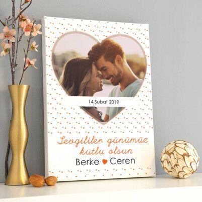 - Sevgililer Günümüz Kutlu Olsun Kanvas Tablo