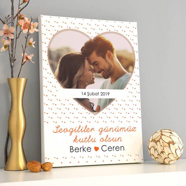 Sevgililer Günümüz Kutlu Olsun Kanvas Tablo