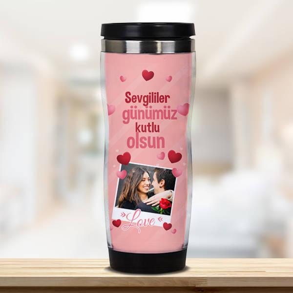 Sevgililer Günümüz Kutlu Olsun Termosu