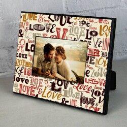 - Sevgililer İçin Love Desenli Resim Çerçevesi