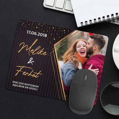 - Sevgililer İçin Romantik Fotoğraflı Mousepad