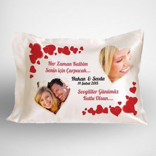 Sevgililer Günümüz Kutlu Olsun Yastık
