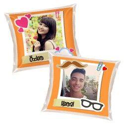 - Sevgililere Özel 2'li Aşk Yastıkları