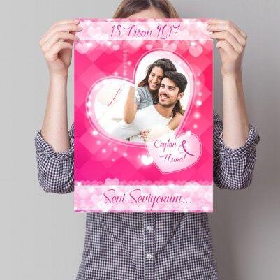 - Sevgililere Özel Aşk Posteri