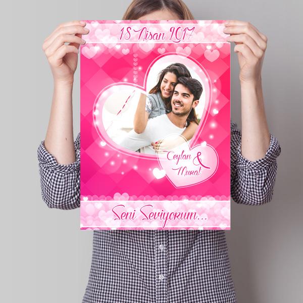 Sevgililere Özel Aşk Posteri