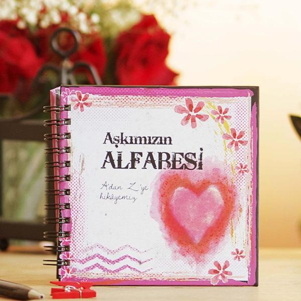 Sevgililere Özel Aşkımızın Alfabesi Kitabı