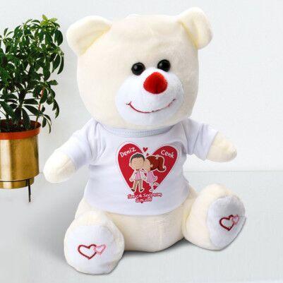Sevgililere Özel Ayıcık ve Melek Kanadı Kolye - Thumbnail