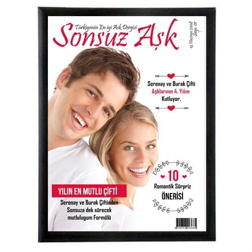 Sevgililere Özel Dergi Kapağı