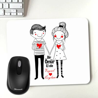 - Sevgililere Özel El Ele Mousepad