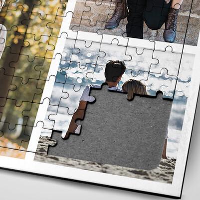 Sevgililere Özel Fotoğraf Baskılı Puzzle - Thumbnail