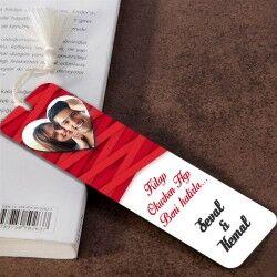 Sevgililere Özel Fotoğraflı Kitap Ayracı - Thumbnail