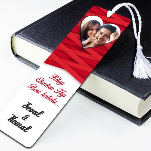 Sevgililere Özel Fotoğraflı Kitap Ayracı