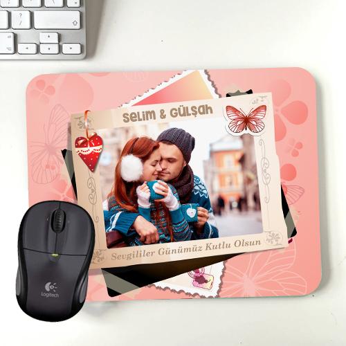 Sevgililere Özel Fotoğraflı Mousepad