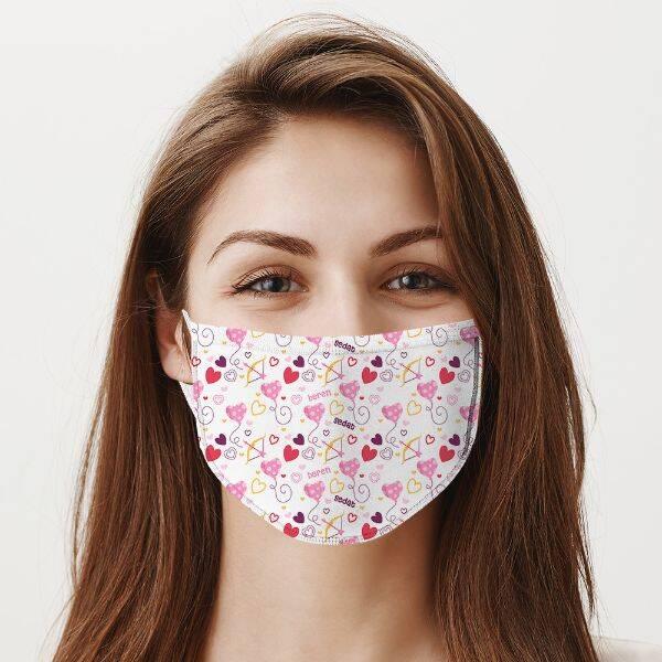 Sevgililere Özel İki İsimli Romantik Maske