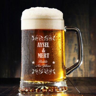 - Sevgililere Özel İsimli Bira Bardağı