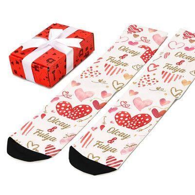 Sevgililere Özel İsimli Çorap - Thumbnail