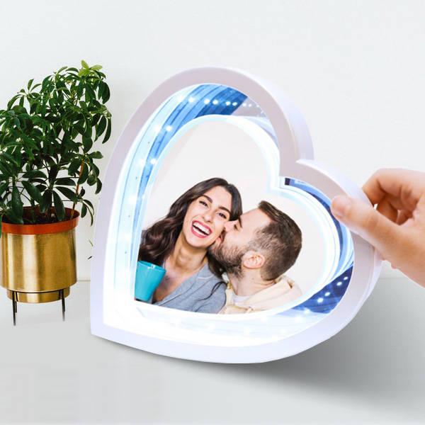 Sevgililere Özel Kalp Sihirli Ayna