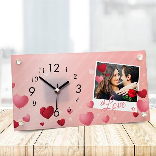 Sevgililere Özel Love Cam Masa Saati