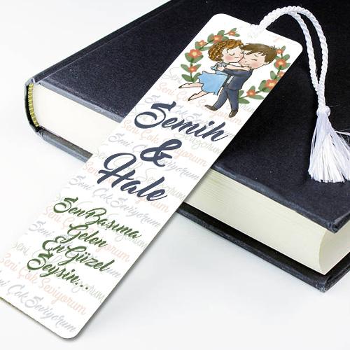 Sevgililere Özel Mesajlı Kitap Ayracı