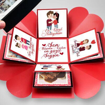Sevgililere Özel Patlayan Kutu Sürprizi - Thumbnail