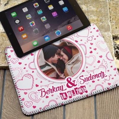 Sevgililere Özel Resimli Tablet Kılıfı - Thumbnail
