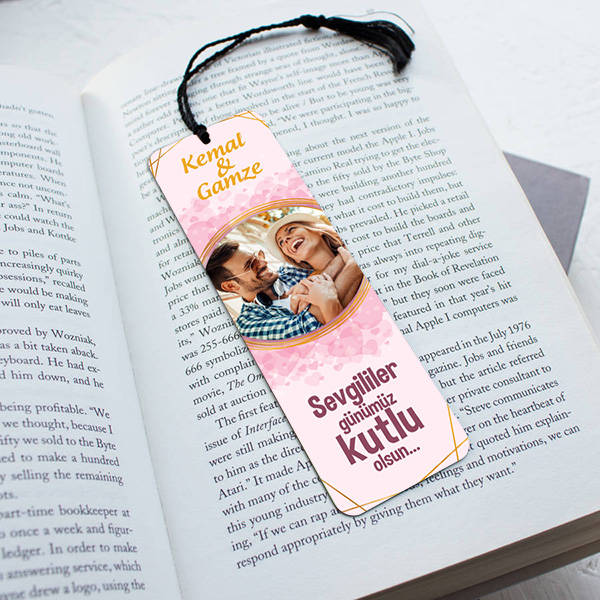 Sevgililere Özel Resimli ve İsimli Kitap Ayracı