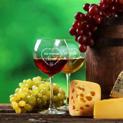 - Sevgililere Özel Romantik Şarap Kadehi