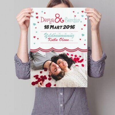 - Sevgililere Özel Yıldönümü Posteri