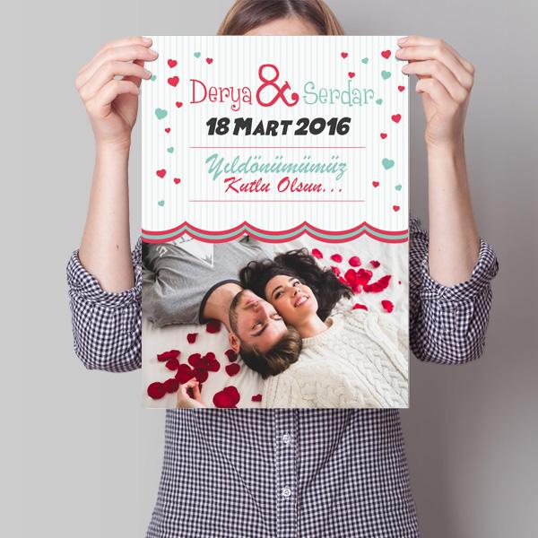 Sevgililere Özel Yıldönümü Posteri