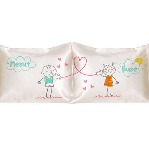 Sevgililere Özel Aşkını Fısılda 2'li Yastık