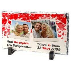 - Sevgililere Özel Romantik Taş Baskı