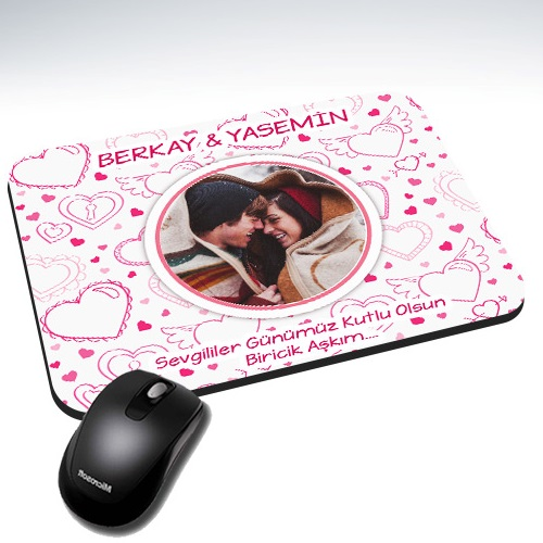 Sevgilim ve Ben Kişiye Özel Mousepad