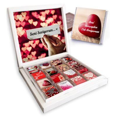 - Sevgilime Seni Çok Seviyorum Çikolatası