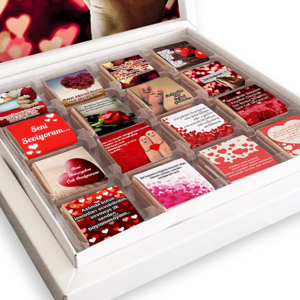 Sevgilime Seni Çok Seviyorum Çikolatası