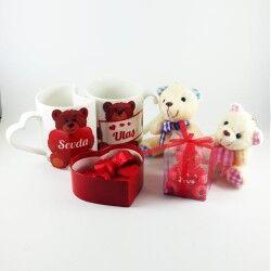 Sevgilime Bi Dolu Ayıcıklı Hediye Sepeti - Thumbnail