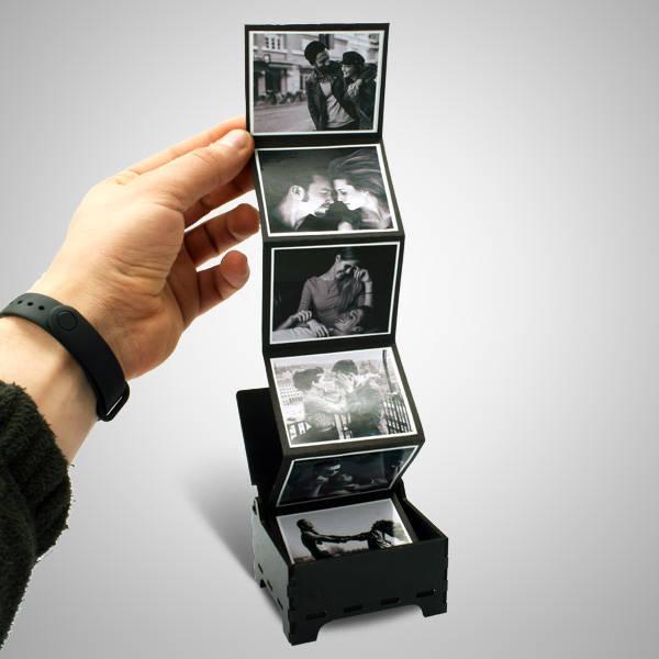 Sevgiliye Akordiyon Fotoğraflı Sürpriz Kutu