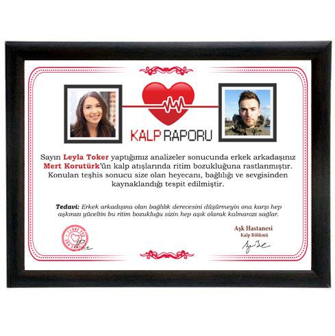 Sevgiliye Aşk Hastanesi Kalp Raporu