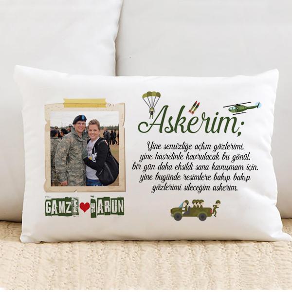 Sevgiliye Askerlik Hatırası Yastık