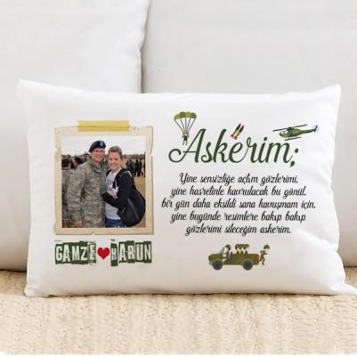 - Sevgiliye Askerlik Hatırası Yastık