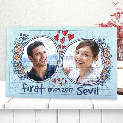 - Sevgiliye Fotoğraflı 240 Parça Puzzle