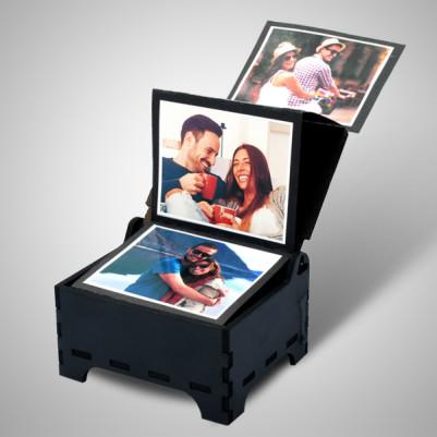 Sevgiliye Fotoğraflı Anı Kutusu - Thumbnail