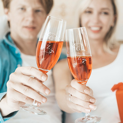 - Sevgiliye Hediye 2'li Şampanya Kadehi