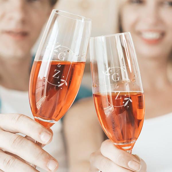 Sevgiliye Hediye 2'li Şampanya Kadehi
