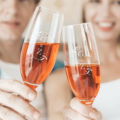 Sevgiliye Hediye 2'li Şampanya Kadehi - Thumbnail